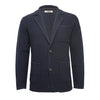 Navy Men´s Knitted Seed Stitch Jacket Tura - Hommard