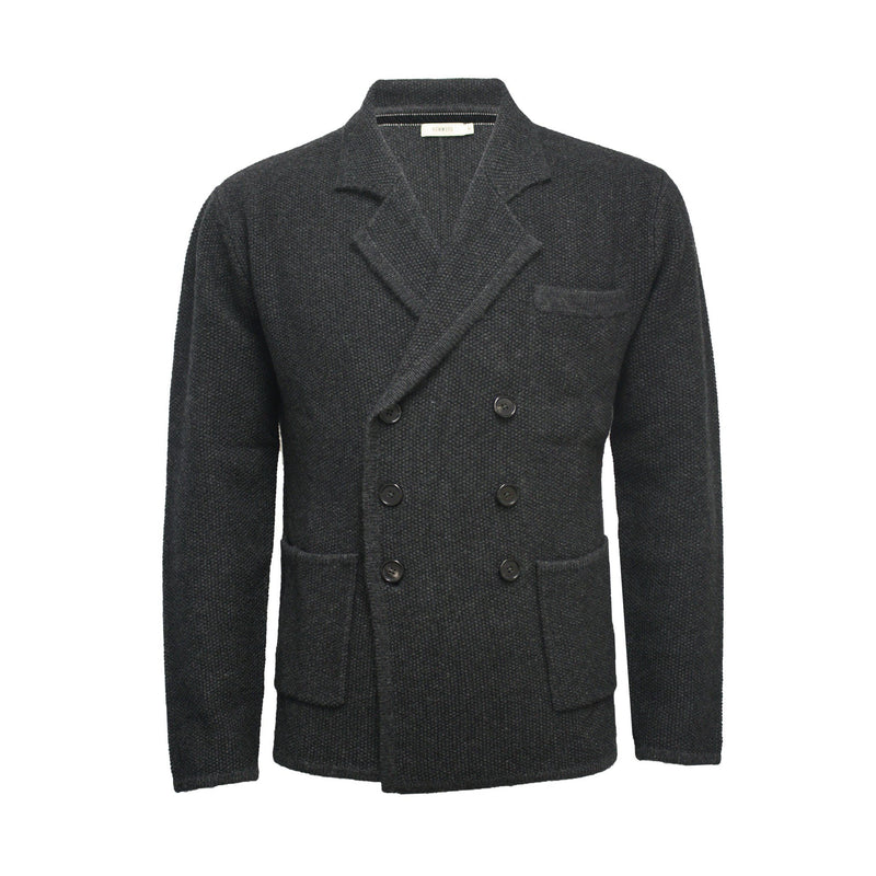 Knitted Double Breasted Jacket Merano - Hommard