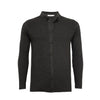 Black Pique Stitch Cashmere Knitted Shirt Titan - Hommard