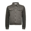 Grey Men´s Cashmere woven and knitted padded Jeans Jacket - Hommard