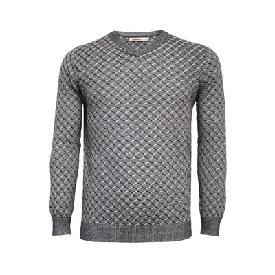 Graphic Men´s Cotton Cashmere V Neck Sweater Nevis - Hommard