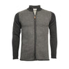 Black Grey Men´s Cashmere Zipper Sweater in Diagonal Stitch Vallauris - Hommard