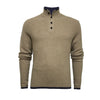 Camel Men´s Cashmere Sweater Button Neck Kandui in small Seed Stitch - Hommard