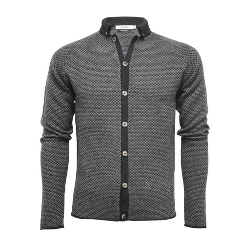 Men's Cashmere Diamond Stitch Knitted Shirt