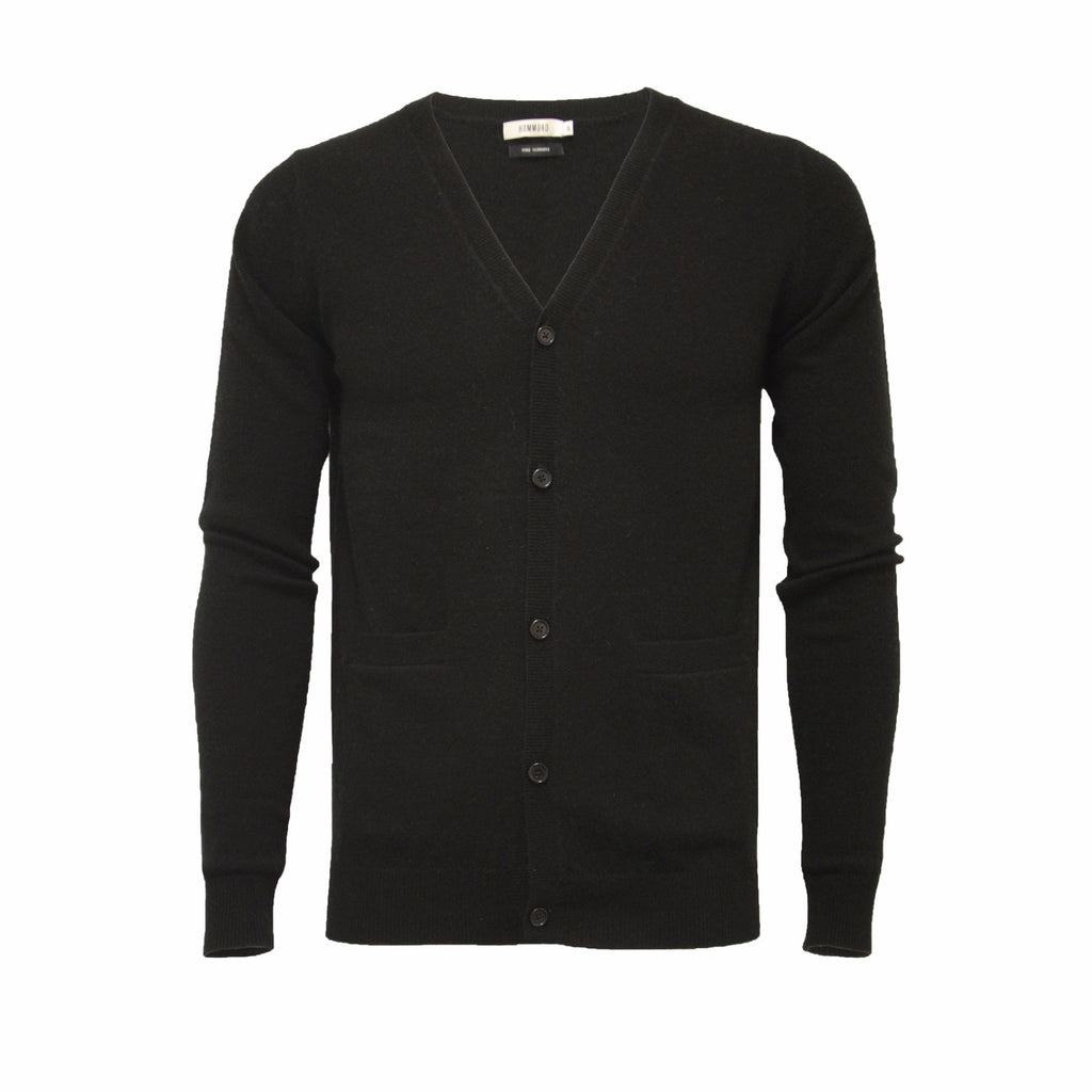Black Men´s Cashmere Cardigan - Hommard