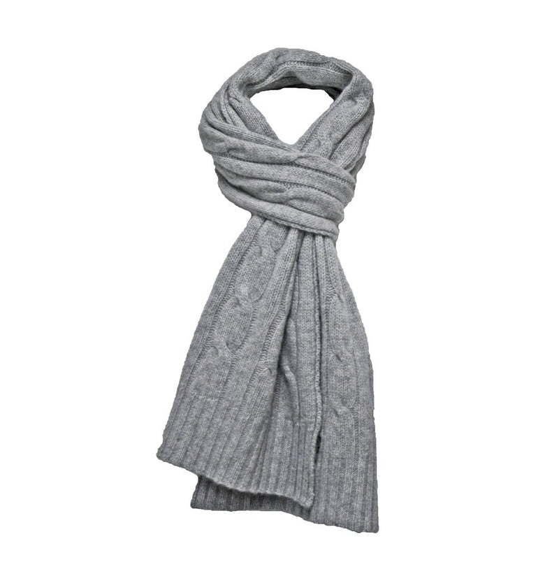 Camel Cashmere Cable Scarf - Hommard