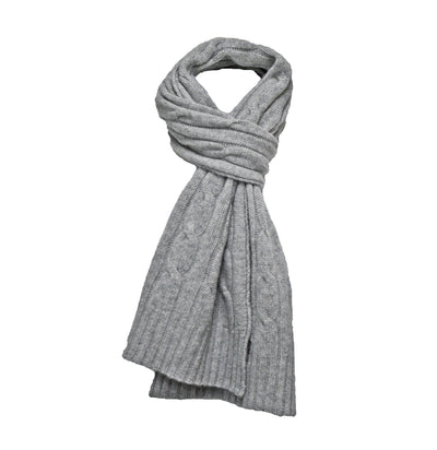 Jeans Blue Cashmere Cable Scarf - Hommard