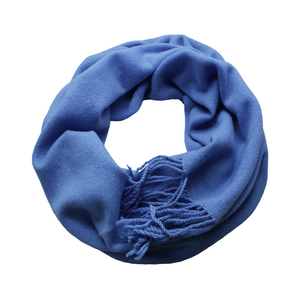 Azur Cashmere Scarf Light Weight Knitted - Hommard
