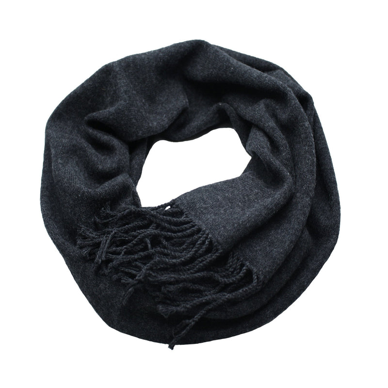 Dark Navy Cashmere Scarf Light Weight Knitted - Hommard
