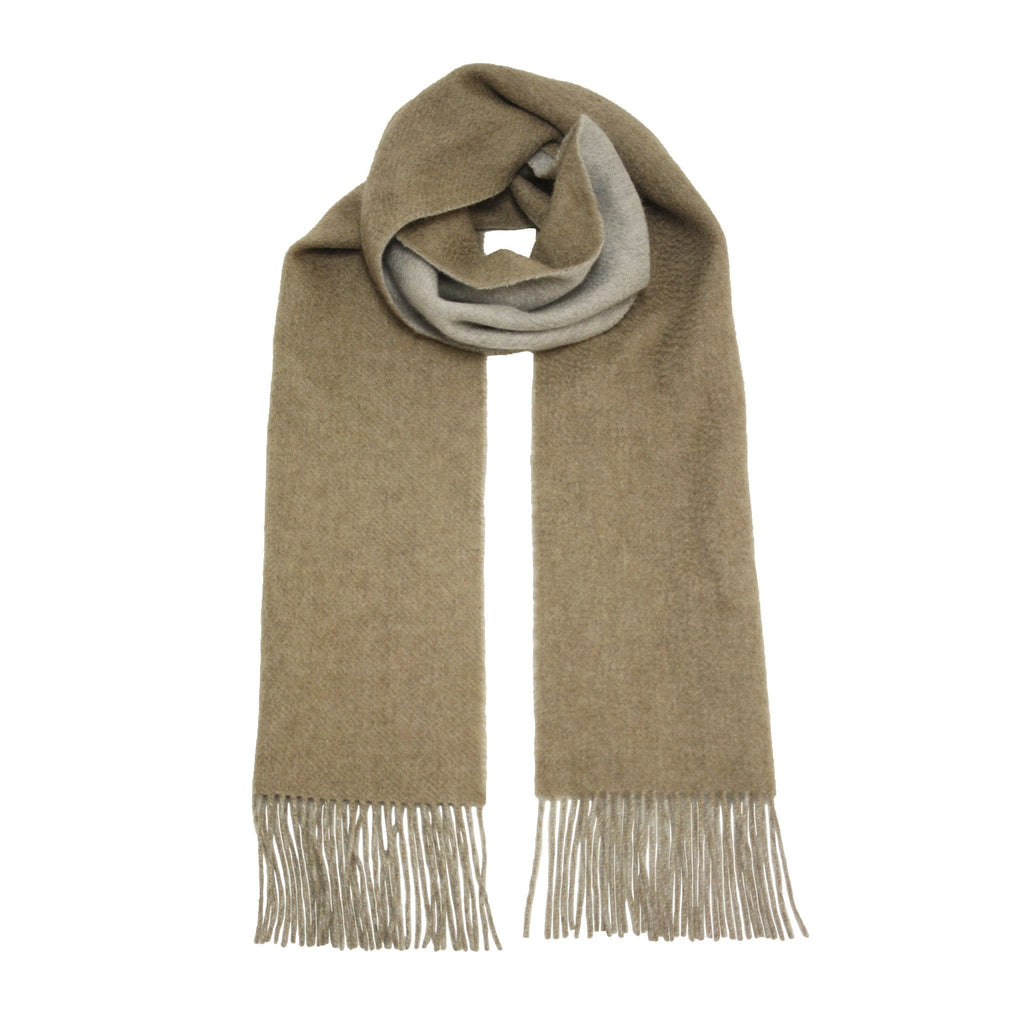 Camel Silver Cashmere Woven Double Face Scarf - Hommard
