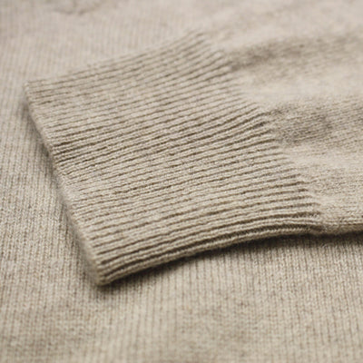 Camel Men´s Cashmere Crew Neck Sweater - Hommard