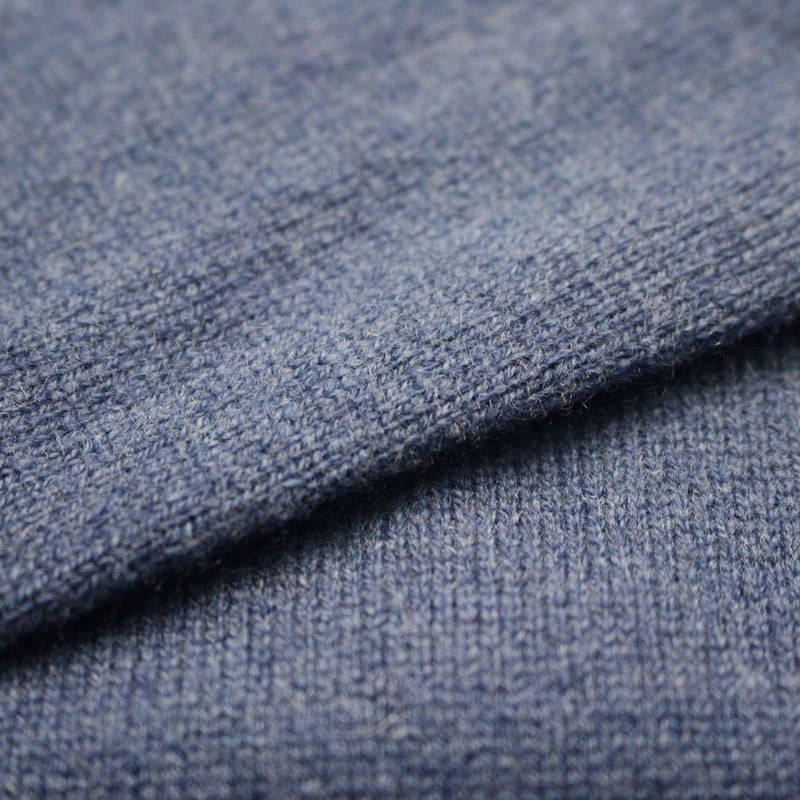 Navy Blue Men´s Cashmere Crew Neck Sweater - Hommard