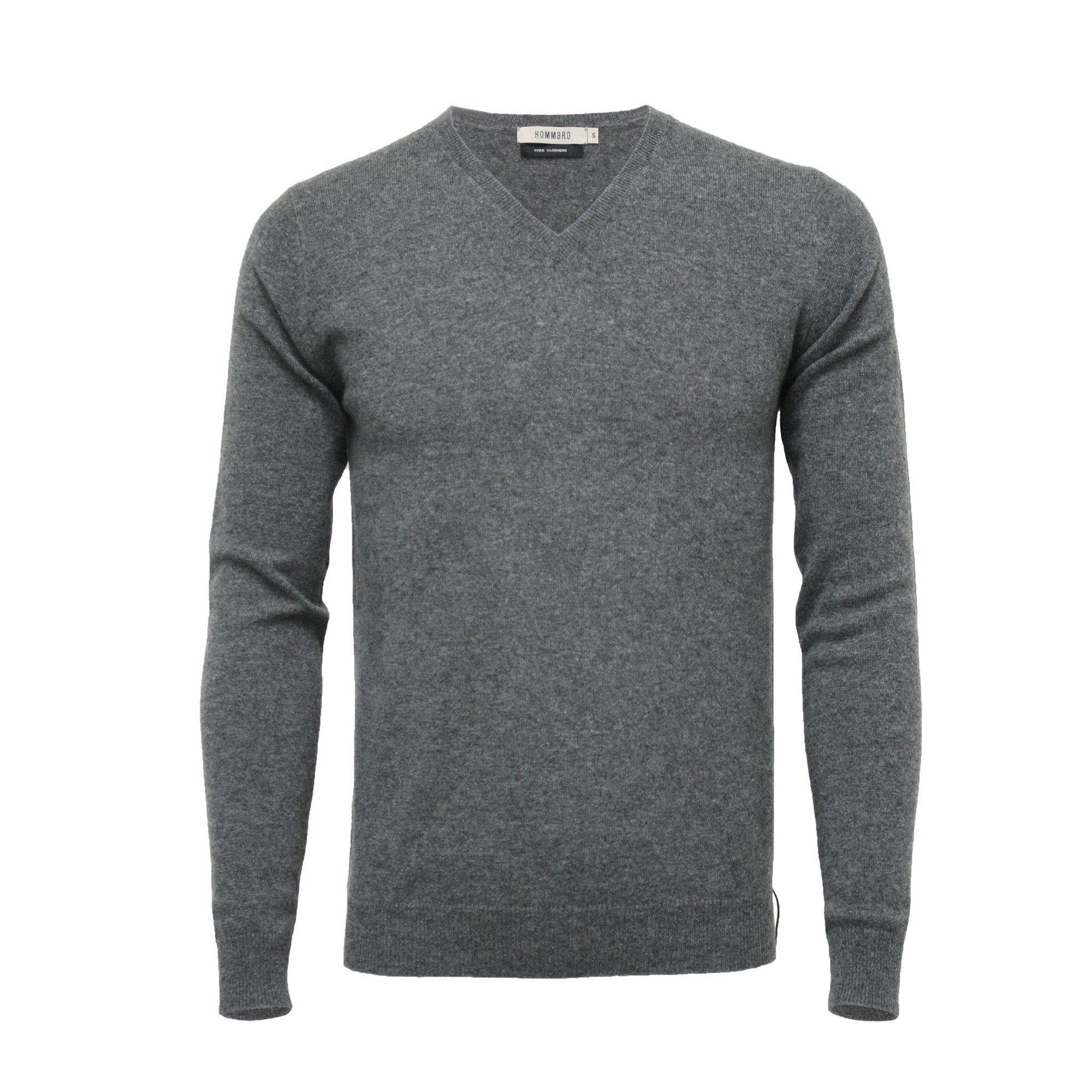 Cashmere V Neck Sweater Mid Grey