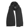 Heavy Seed stitch knitted Cashmere Scarf Milkyway Black - Hommard