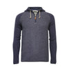 Men´s Cashmere Hooded Sweater in Diagonal Stitch Zipper Nowa
