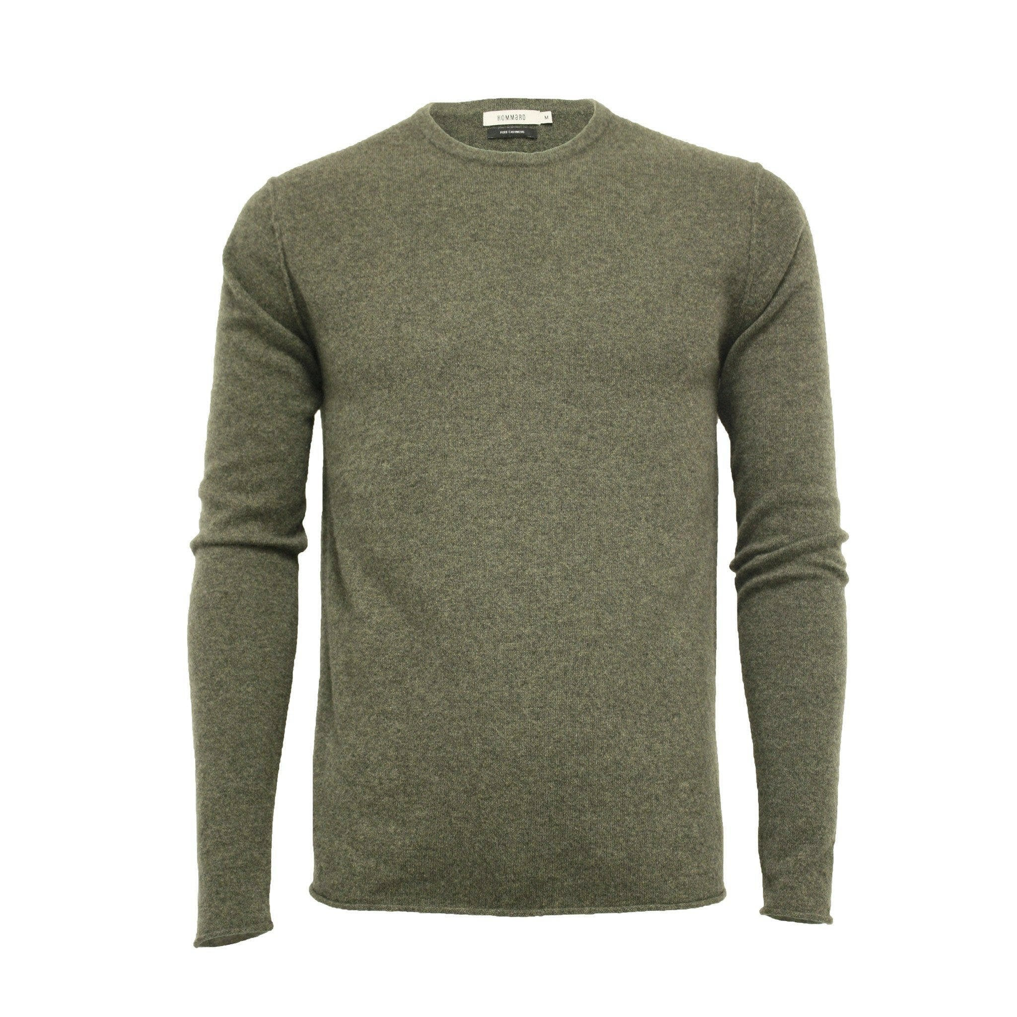 Men´s Cashmere Crew Neck Sweater Ripley Army Green