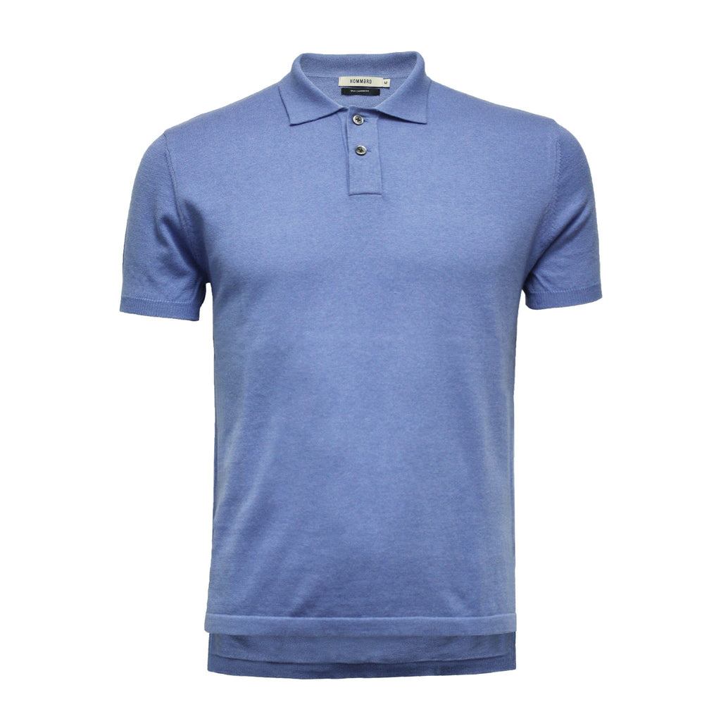 Men´s Cashmere Polo Shirt Hampton in Cotton Cashmere - Hommard