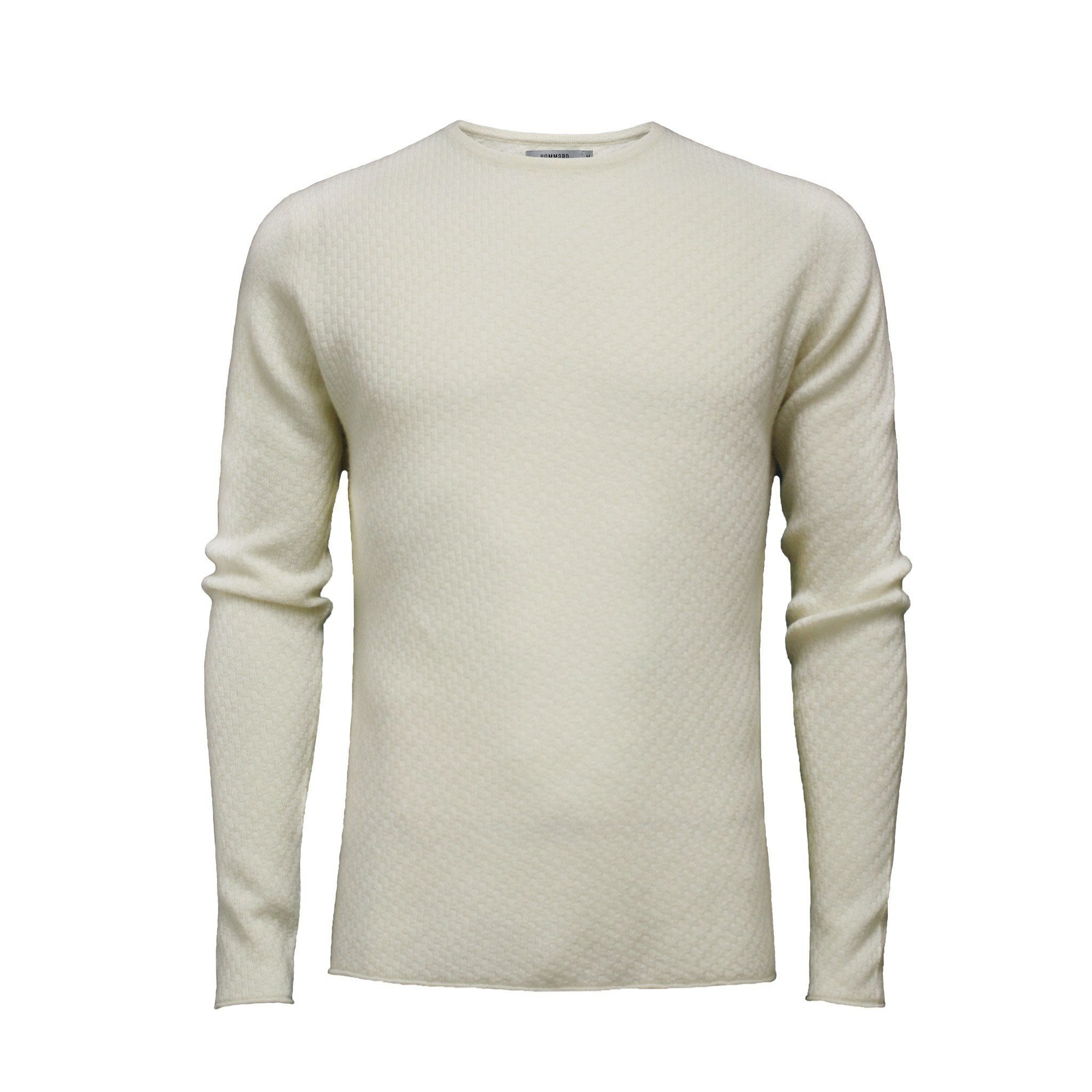 Men´s Cashmere Sweater Crew Neck Cabo in Carbon stitch - Hommard