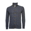 Donegal Blue Men´s Cashmere Cable Cardigan - Hommard