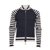 Men´s Cashmere Bomber Jacket in Seed Stitch, Striped Sleeves Bel Air - Hommard