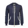Donegal Blue Men's Cashmere Hooded Zipper Sweater Nowra - Hommard