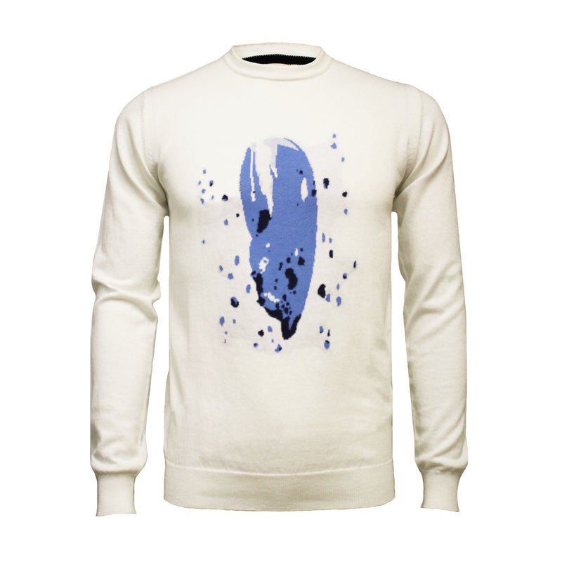 Crew Neck Lobster Claw Intarsia - Hommard