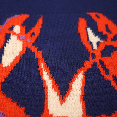 Crew Neck Lobster Intarsia - Hommard