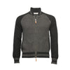 Grey Black Men´s Cashmere Bomber Jacket in Honey comb stitch Toharu - Hommard