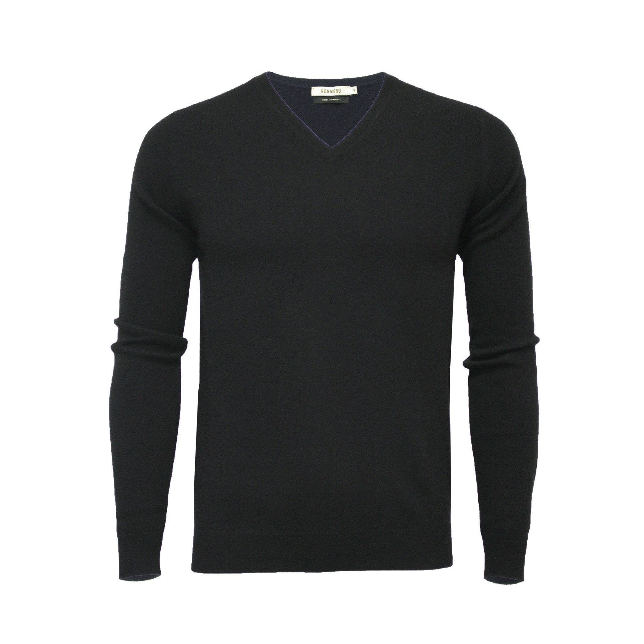 Cashmere V Neck Sweater Deep Black