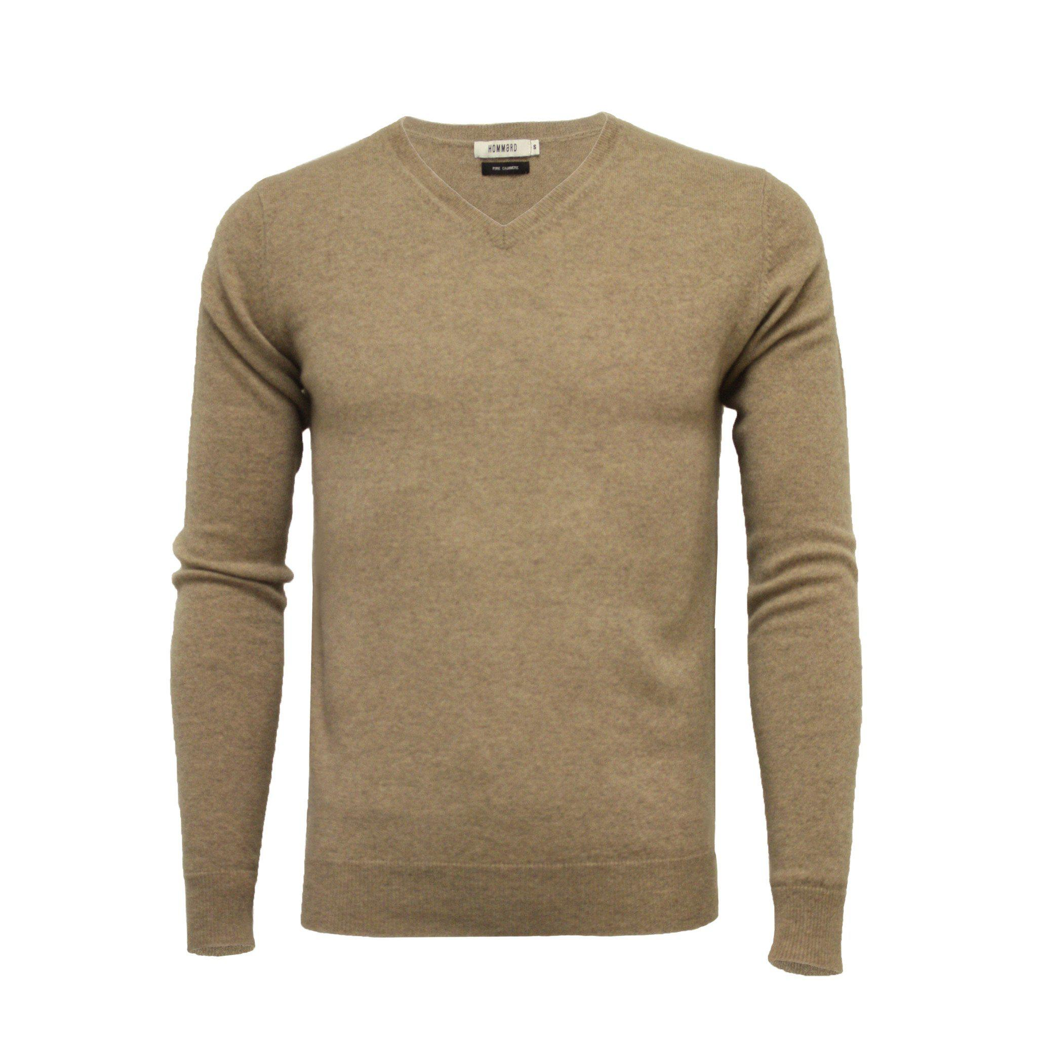 Cashmere V Neck Sweater Camel