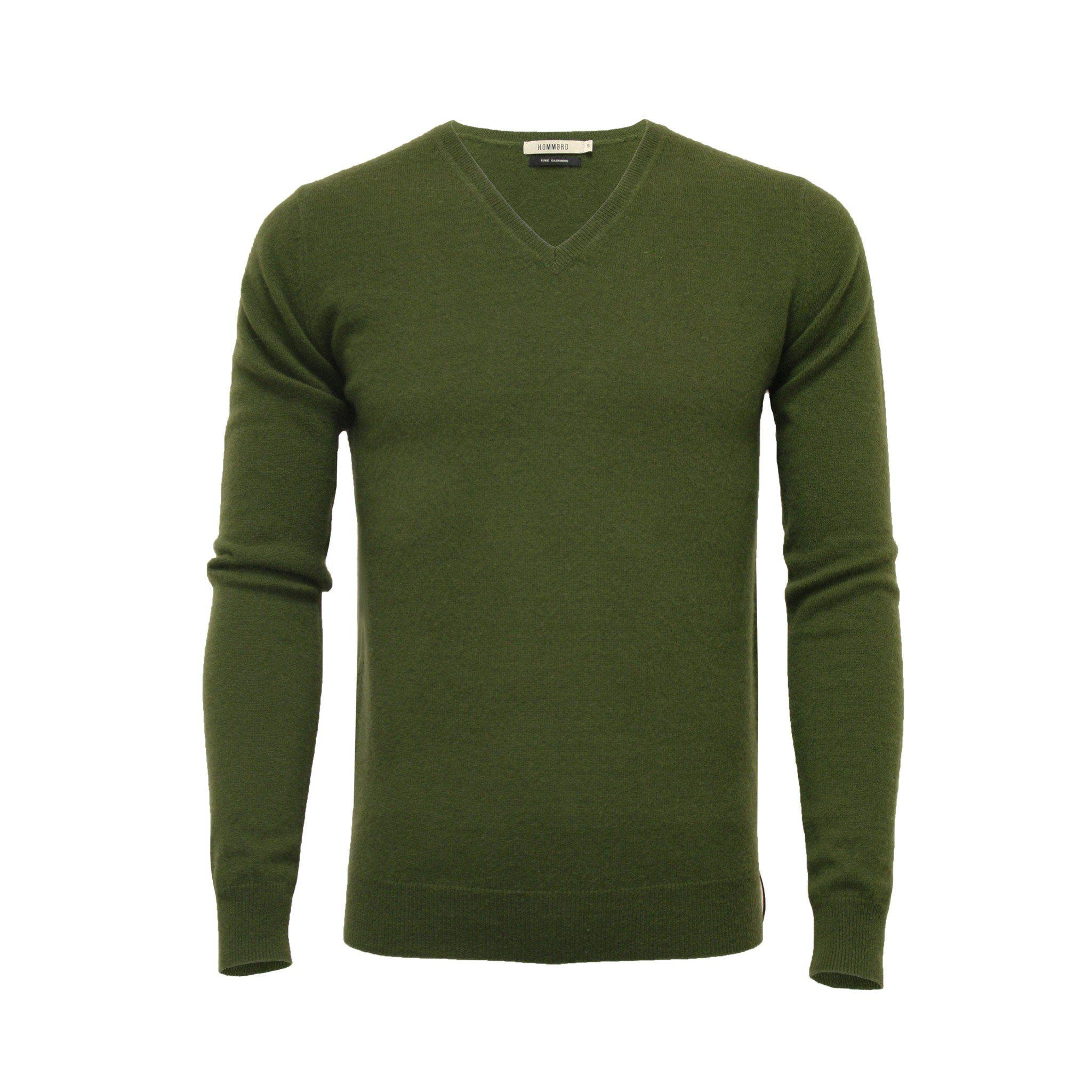 Cashmere V Neck Sweater Hunting Green