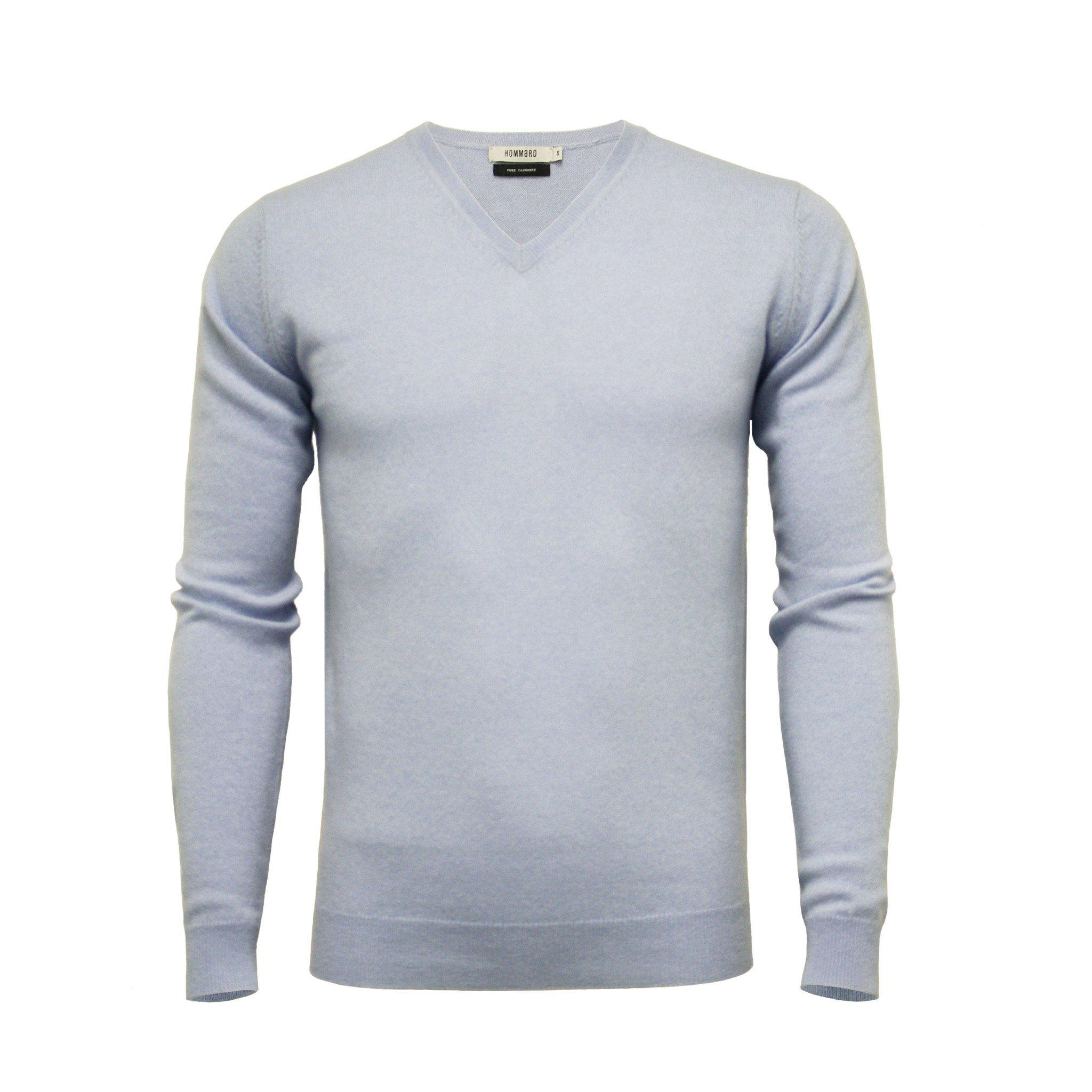 Cashmere V Neck Sweater Light Blue