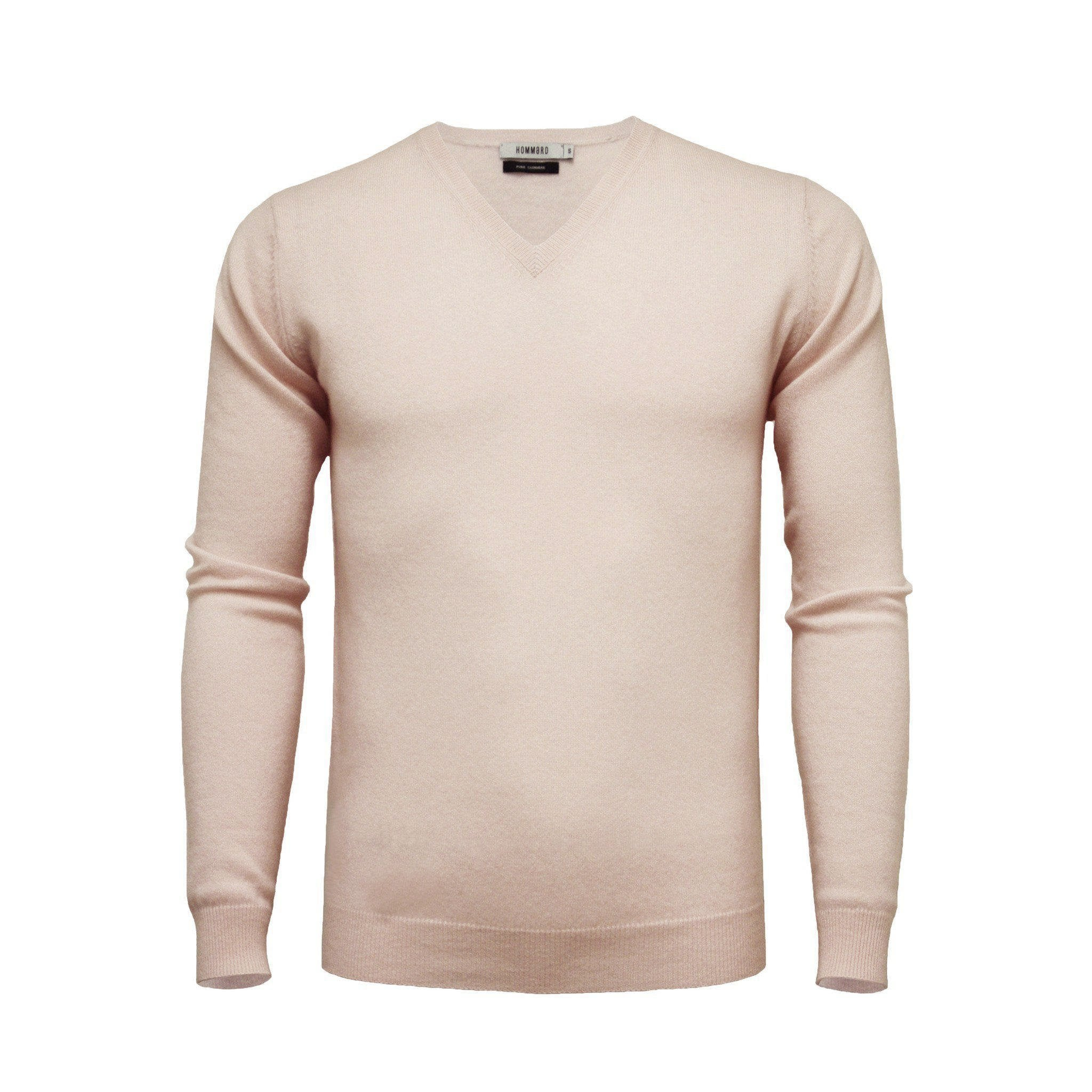 Cashmere V Neck Sweater Light Pink