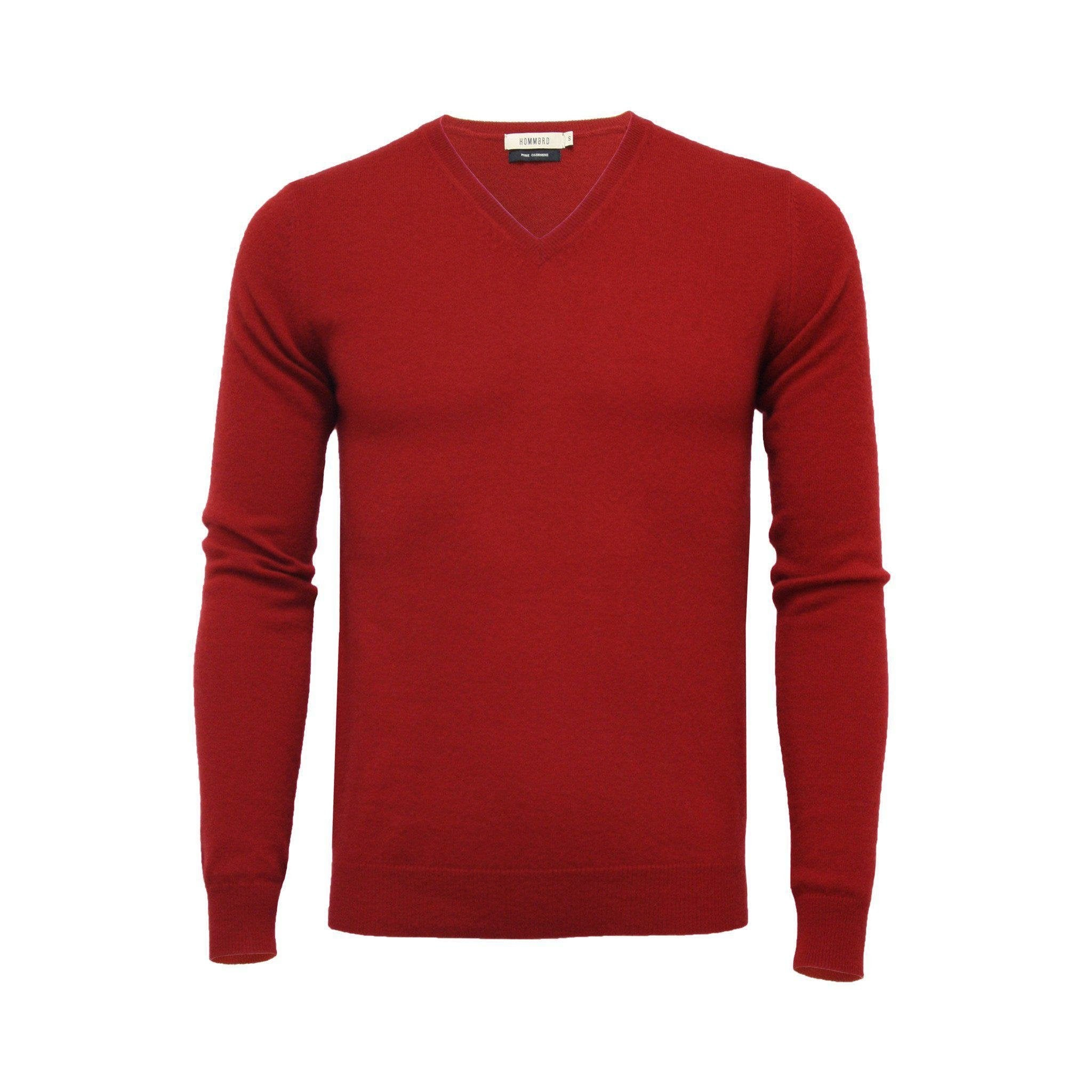Cashmere V Neck Sweater Bordeaux
