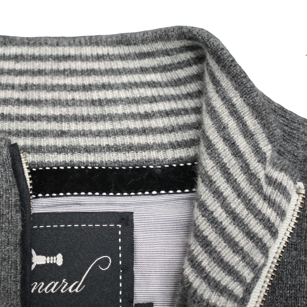 Charcoal Grey Men´s Cashmere Zipper Cardigan Porto - Hommard