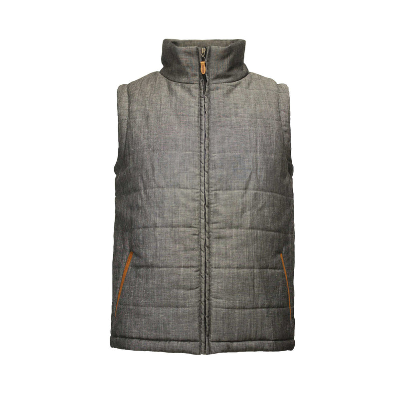 Men´s Bodywarmer puffer Vest in Wool Linen - Hommard
