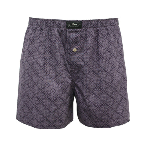 Purple Paisley Men´s Woven Cotton Boxer Shorts
