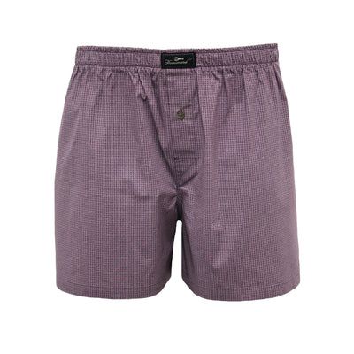 Dark Red Dot Men´s Woven Cotton Boxer Shorts - Hommard