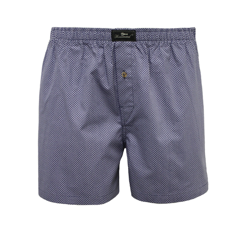 Blue Dot Men´s Woven Cotton Boxer Shorts - Hommard