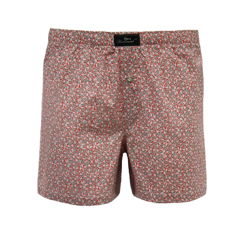 Red Flower Men´s Woven Cotton Boxer Shorts - Hommard