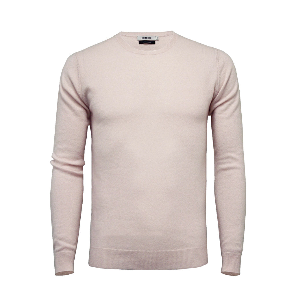 Pink Men´s Cashmere Crew Neck Sweater - Hommard