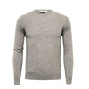 Silver Grey Men´s Cashmere Crew Neck Sweater - Hommard