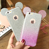 Soft TPU Silicon Glitter Gradient Candy Color Phone Cases for iPhone