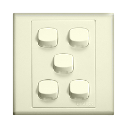 Orange - Switches  - X07 Series - Colour - White, Black, Cream, Red, Nutmeg