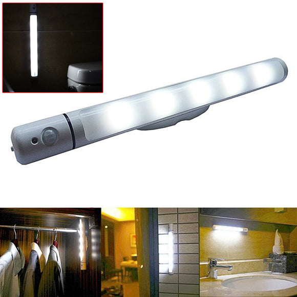 PIR Motion Light Sensor 5LED Swivel Night light Lamp for Wardrobe Cabinet Can be Rotated to Give you The Most Suitable Angle