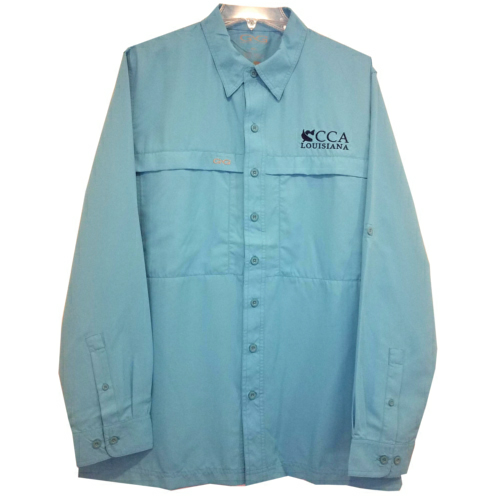 Men's Longsleeve Fishing Shirt - CCA Louisiana