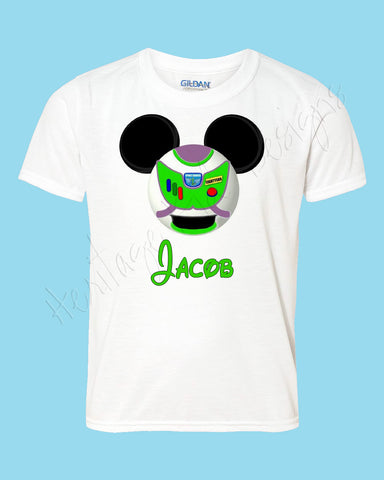 Personalized BUZZ mouse ears Icon Toy Story shirt - FREE personalization!