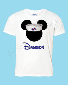 Personalized Mickey Cruise sailor hat Disney mouse ears Icon Disney shirt - FREE personalization!