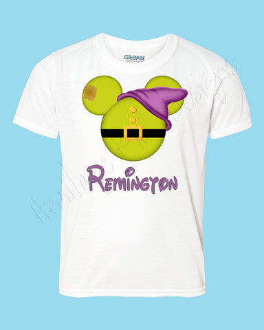 Personalized Dopey dwarf Disney mouse ears Icon Disney shirt - FREE personalization!