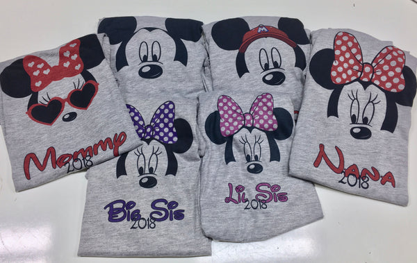 Mouse head - Disney Family shirts